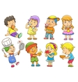 set of child activities routines vector image