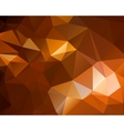 Abstract brown shiny polygon background vector image
