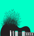 Abstract guitar music background vector image vector image