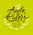 apple ciders calligraphic label vector image vector image