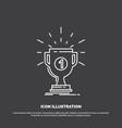 award cup prize reward victory icon line symbol vector image vector image