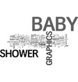 baby shower graphics do you want the good or bad vector image vector image