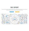 banner ski sport vector image vector image