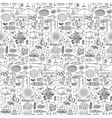 Barbecue party doodle seamless pattern vector image