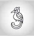 bird logo icon vector image vector image