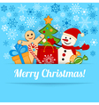 Blue Christmas card or background vector image vector image