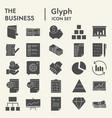 business glyph icon set management symbols vector image