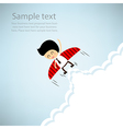 Businessman rocket flying with wings EPS10 vector image