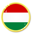 button with flag Hungary vector image vector image