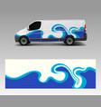 car decal van with wave sea designs wrap designs vector image vector image