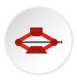 car jack icon circle vector image vector image