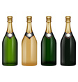 Champagne bottle in many colors vector image vector image