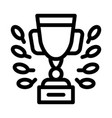 champion cup icon outline vector image vector image