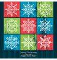 christmas background with hand draw snowflakes vector image vector image