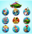 Circus clip art set vector image vector image