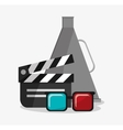 Clapboard cinema and movie design vector image vector image