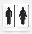 classic restroom toilet symbols outlines vector image
