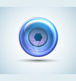 cyber eye isolated with shadow vector image vector image