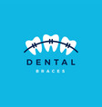 dental braces logo icon vector image
