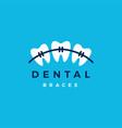 dental braces logo icon vector image vector image