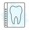 dental x-ray thin line icon stomatology vector image