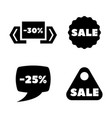 discount sale tag simple related icons vector image