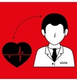 doctor with cardiology isolated icon design vector image