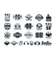 emblems and badges set of campus baseball team vector image