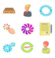 exchange icons set cartoon style vector image vector image