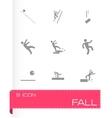 fall icon set vector image vector image