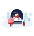 festive winter season holiday people vector image vector image