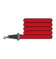 fire extinguis hose vector image