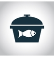 Fish in the saucepan icon vector image