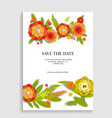 floral invitation for wedding vector image