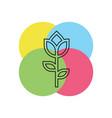 flower - nature floral plant vector image