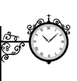 Forging retro clock with vignette arrows vector image