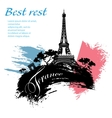 France travel grunge style vector image