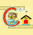 funny pets cartoon vector image vector image