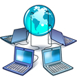 global computer network vector image vector image
