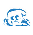 global warming ecological logo vector image