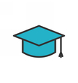 Graduation Cap Outline Icon vector image vector image