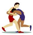 greko-roman wrestling vector image