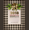 happy new year 2018 promotional banner with vector image vector image