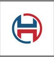initials h circle abstract logo vector image vector image