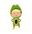 Kid In Avocado Costume vector image vector image