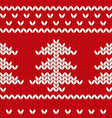 Knitted New Year tree vector image
