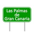 Las Palmas de Gran Canaria road sign vector image