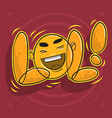 lol lots of laughs with laughing face vector image