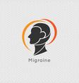 migraine logo icon concept - vector image