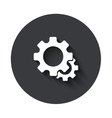 modern gray circle icon vector image vector image